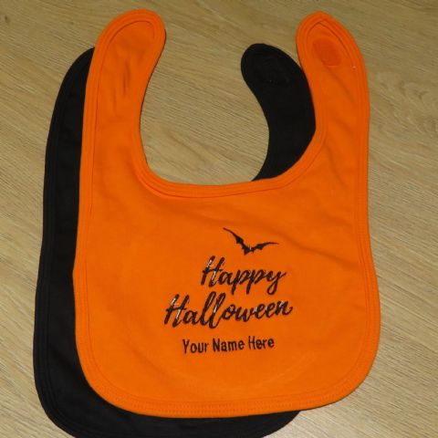 Personalised Happy Halloween Babies Bib